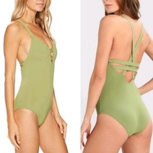 Seafolly 8 Deep v Mallot One Piece Swimwear suit